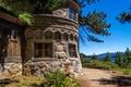 Картинка горы, деревья, берег, озеро, Lake Tahoe, дом, лес, США