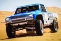 Картинка гоночный болид, Trophy Truck, Silverado, песок, пикап, Шевроле, передок, Chevrolet, Сильверадо