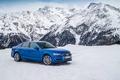 Картинка зима, снег, горы, Audi