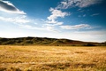 Картинка горы, поле, природа, лето, небо, трава, облака
