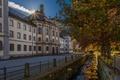 Картинка Black Forest, здания, Sankt Blasien, деревья, лучи солнца, Швейцария