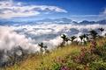 Картинка небо, горы, облака