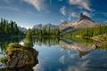 Картинка озеро, горы, Италия, остров, лес