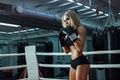 Картинка training, female, boxing
