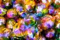Картинка цветы, рендеринг, лепестки, отражение, шар, линии