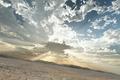 Картинка trbrchdm, пустошь, арт, трещины, пейзаж, солнечные лучи, облака