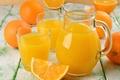 Картинка апельсины, стаканы, напиток, кувшин, апельсиновый сок