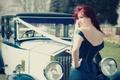 Картинка Laura Ruffell, свадьба, rolls royce, car, ретро