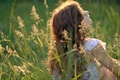 Картинка wallpapers, настроения, фон, природа, обои, зелень, девушка, солнце, трава