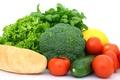 Картинка базилик, овощи, багет, кабачок, салат, зелень, помидор, брокколи