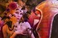 Картинка Tanya Varga, цветы, птицы, девушка, крылья, арт