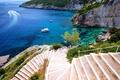 Картинка sea, coast, boats, stairs