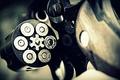 Картинка Револьвер, гильзы, барабан