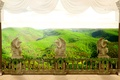 Картинка перспектива, виноград, колонны, терраса