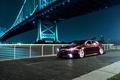 Картинка хонда, мост, TSX, Accord, Honda, город, ночь, черная, акура, Acura