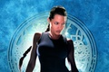 Картинка девушка, фон, Анджелина Джоли, Angelina Jolie, Лара Крофт, постер, Lara Croft, Лара Крофт: Расхитительница гробниц, ...