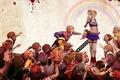 Картинка голова, кровь, девушка, электропила, Lollipop chainsaw, зомби