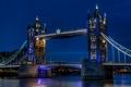 Картинка Thames, river, London, capital, освещение, Англия, Лондон, city, город, Темза, столица, огни, ночь, Tower Bridge, ...