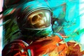 Картинка astro, космонавт, скафандр, арт, череп, Por-t-falatron