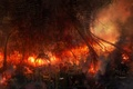 Картинка Пожар, огонь, катастрофа, монстр