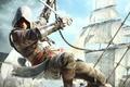 Картинка Edward Kenway, корабли, Assassin's Creed IV Black Flag, пират
