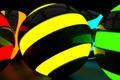 Картинка неон, шар, рендеринг, шарики
