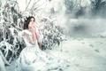 Картинка Frozen, девушка, холод, Rozalina Yakimenko, снег, мороз, платье