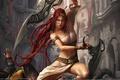 Картинка Heavenly sword, девушка, воин, город