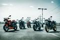Картинка мотоцикл, парковка, Triumph, Speed Triple R, 2016 пять