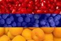 Картинка флаг, фрукты, Armenia, Армения, Флаг Армении