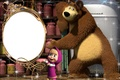 Картинка маша, медведь, зеркало, мультфильм