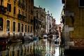 Картинка здания, лодки, Италия, Венеция, канал, мостик, bridge, street, гондолы, Venice, Venezia, İtalia, İtaly
