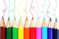 Картинка Карандаши, цвета, краски, белый фон