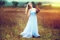 Картинка девушка, сова, платье, Inese Stoner, Athene