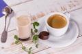Картинка чашка, еда, кофе, молоко, конфета