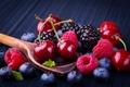 Картинка ягоды, малина, berries, fresh, черешня, ежевика, черника