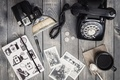 Картинка camera, coffee, pictures, telephone, coins