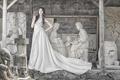 Картинка девушка, стиль, платье, азиатка, скульптуры