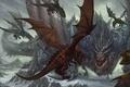 Картинка World of Warcraft, драконы, Рассвет Аспектов, арт, fantasy