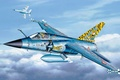 Картинка war, art, airplane, painting, jet, Dassault Mirage F1