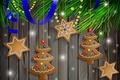 Картинка Xmas, Новый Год, снег, Merry, украшения, Рождество, Christmas, cookies, шары, decoration