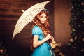 Картинка зонт, Diana lipkina, девушка, платье