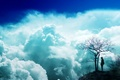 Картинка облака, голубое небо, мечта