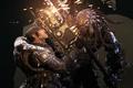Картинка Gears of war 2, маркус феникс, саранча, оружие, искры