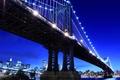 Картинка мегаполис, Бруклинский мост, сердце, Нью-Йорк, New York city, ночь, night, США