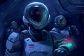 Картинка космонавт, скафандр, фантастика, арт, шлем, астронавт, космос