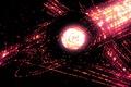 Картинка Космос, комета, Красный, Узор, Глаз, Ад Абдулова, мастер пэинта, Око, тьма, wallpaper, Абстракция, черная дыра