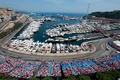 Картинка море, город, побережье, спорт, трасса, яхты, гонки, катера, трибуны, зрители, Монако, Формула-1, Circuit de Monaco, ...
