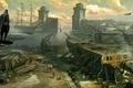 Картинка море, карабль, эцио, assassins creed revelations, порт