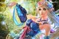 Картинка girl, elf, девушка, бабочки, фантастика, эльф, fantasy